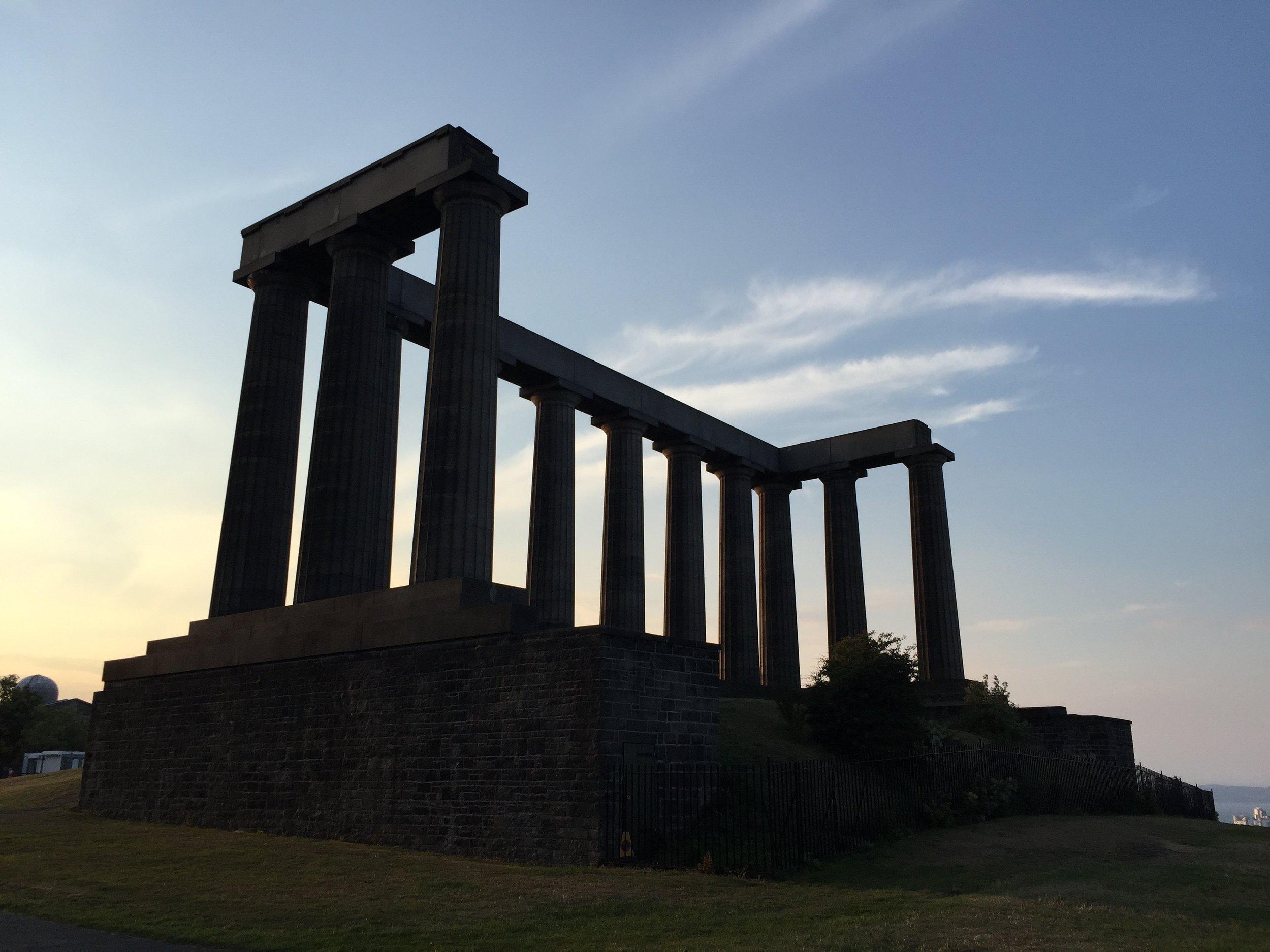 The National Monument of Scotland on Calton Hill, Edinburgh