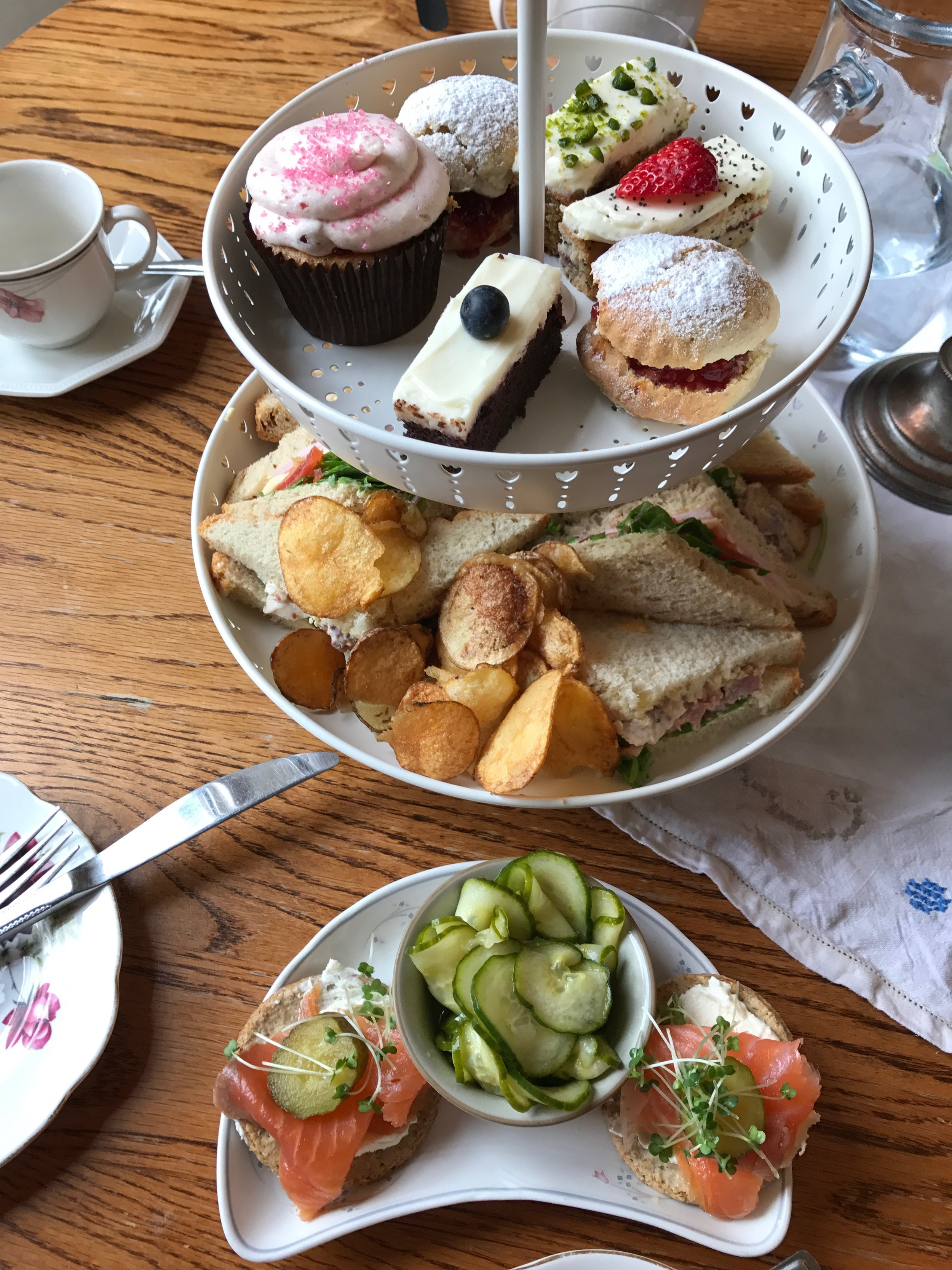 Afternoon Tea at The Butterfly and the Pig