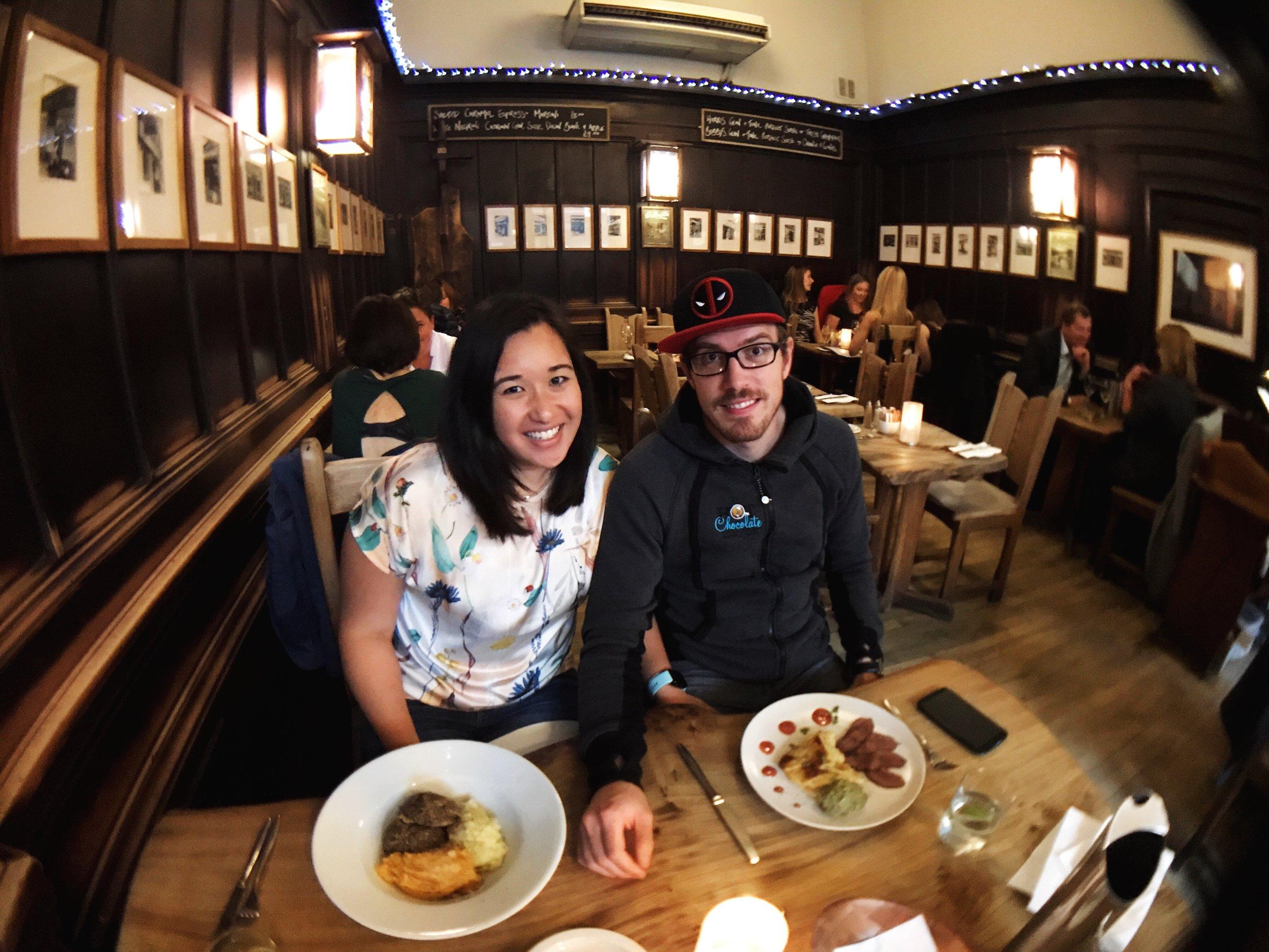 Dinner at Cafe Gandolfi in Merchant City, Glasgow