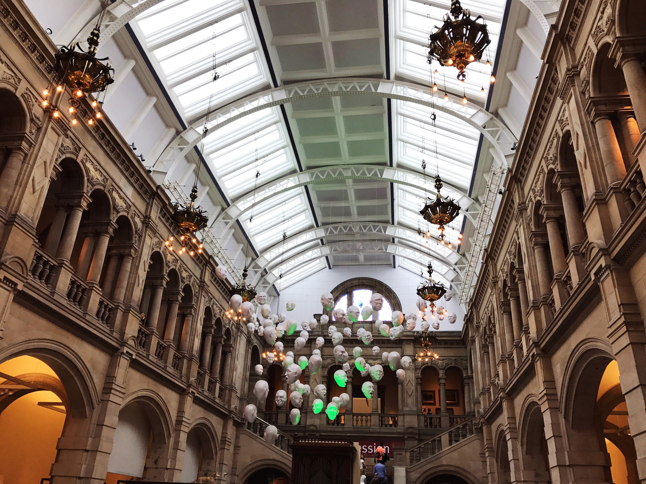 Inside Kelvingrove Art Gallery and Museum, Glasgow