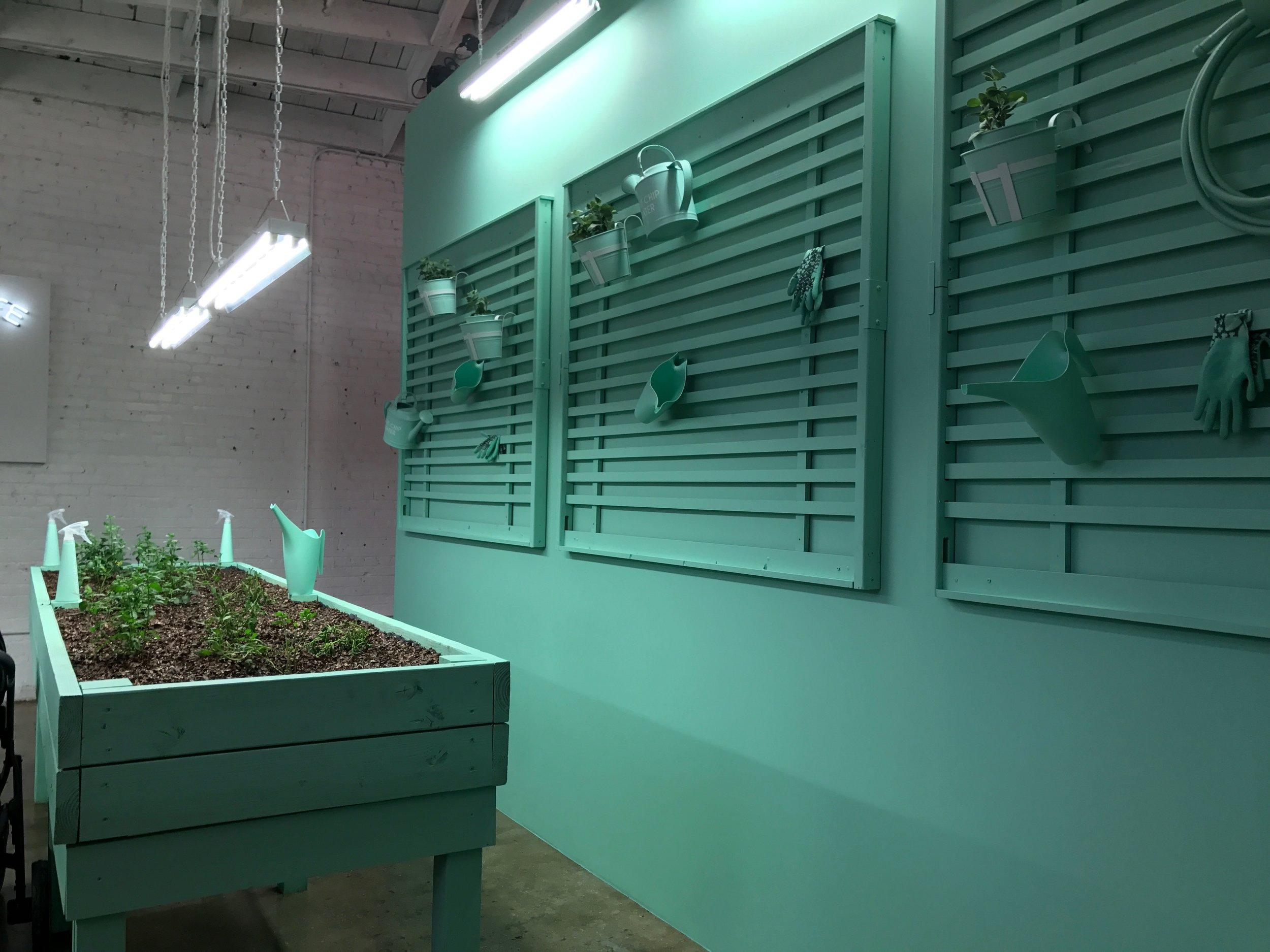 Mint green house