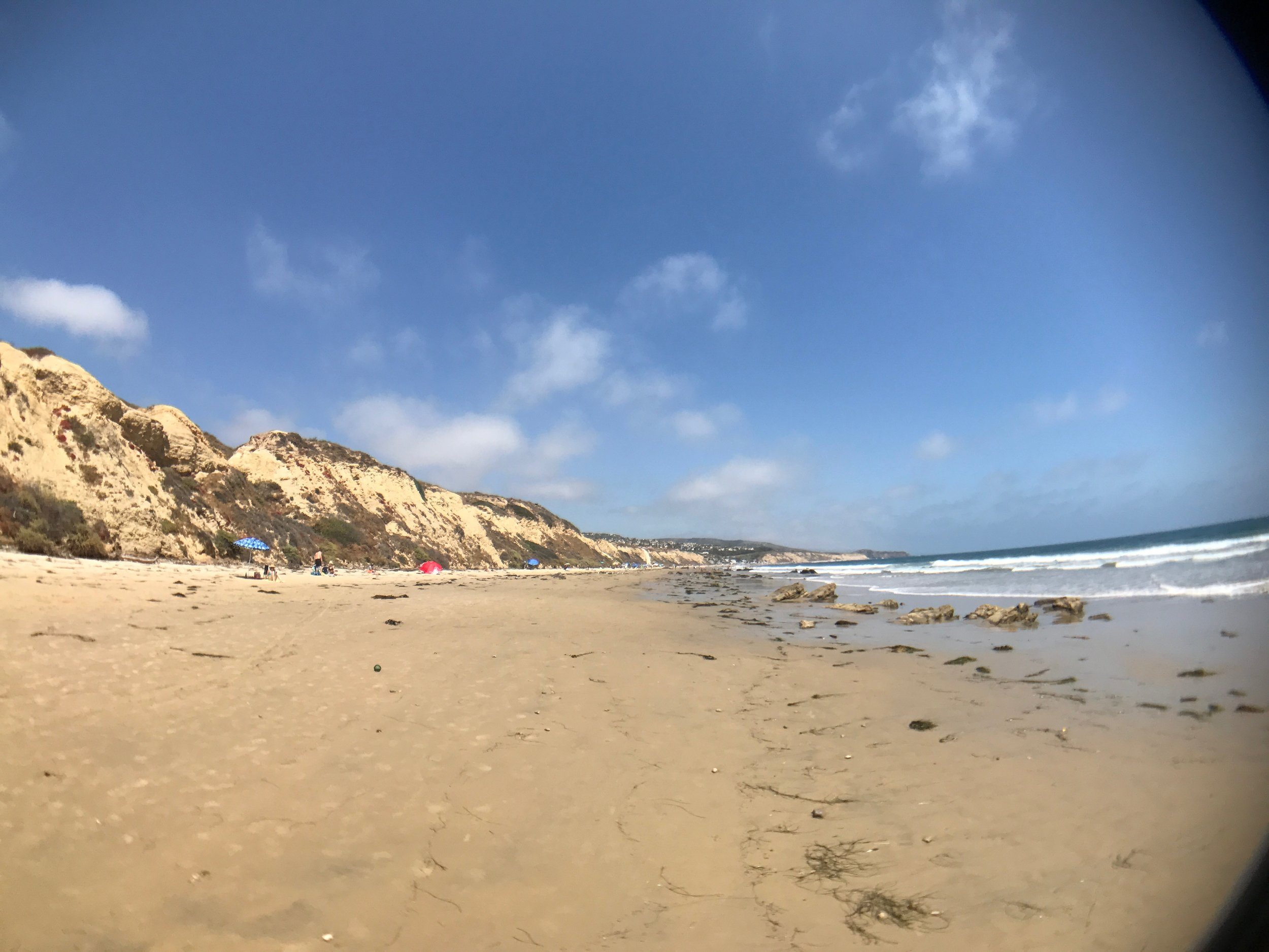 Perfect beach day at Crystal Cove