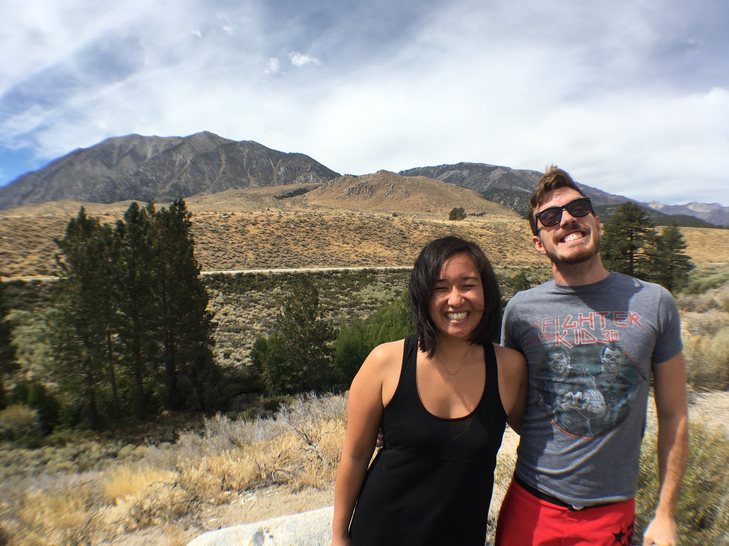 Cheese fest photo op from one of our first road trips together to Lake Tahoe, NV