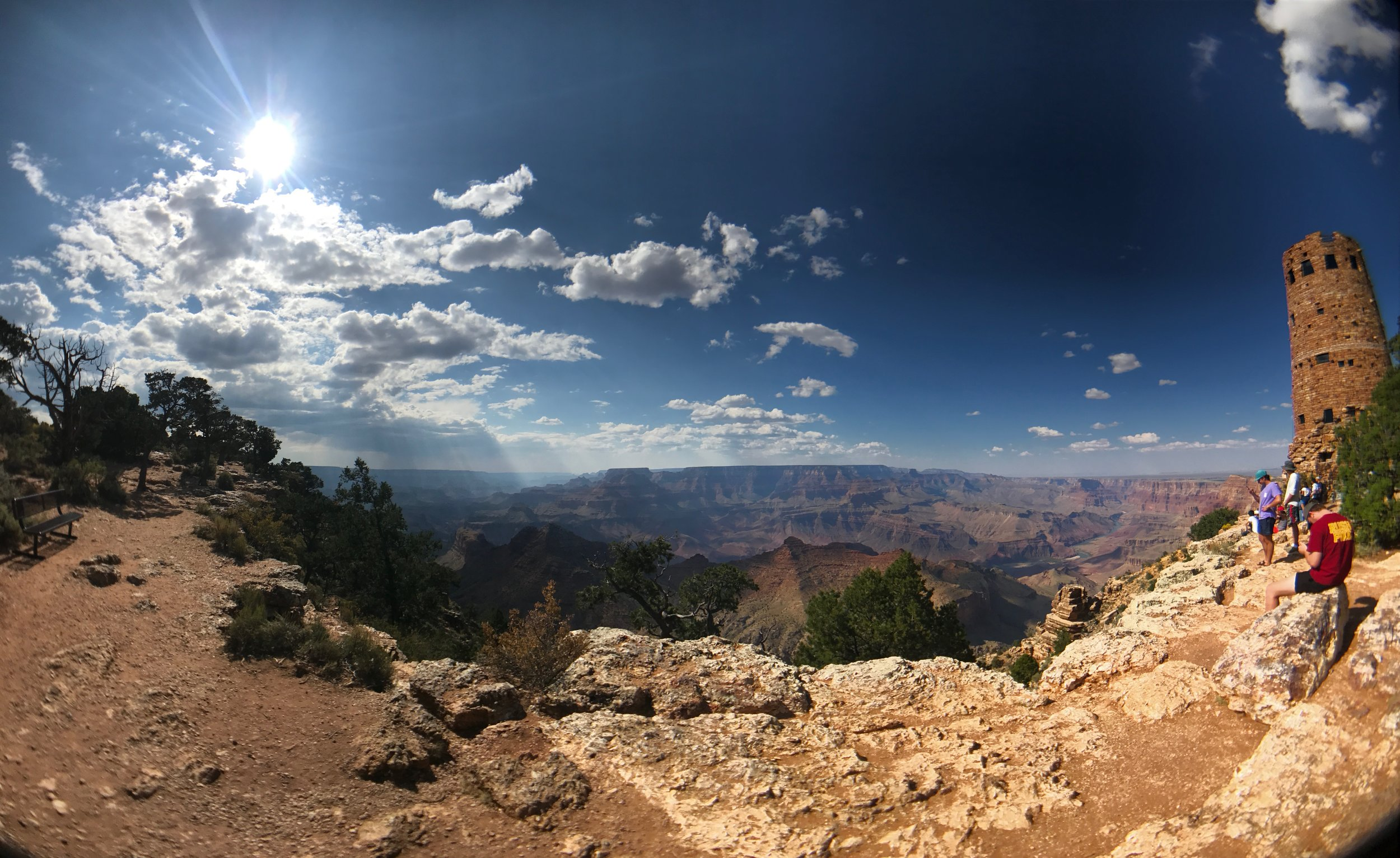 View from the Desert View Watch Tower - Grand Canyon National Park