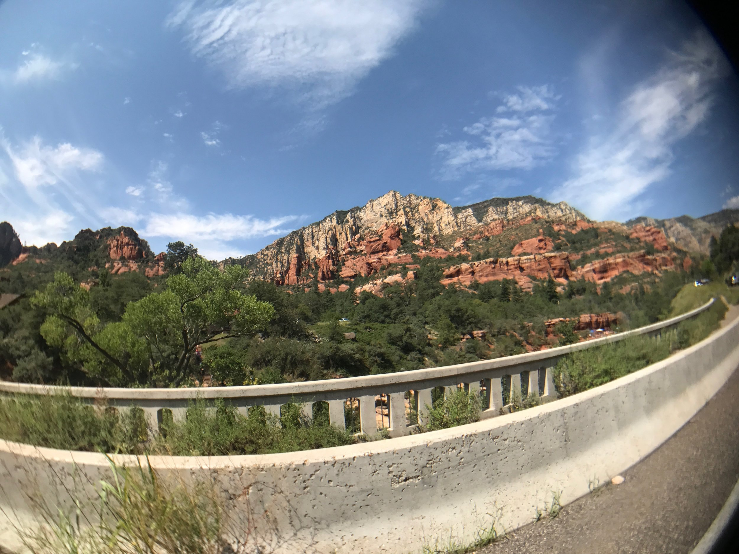On our drive from Flagstaff to Sedona, AZ