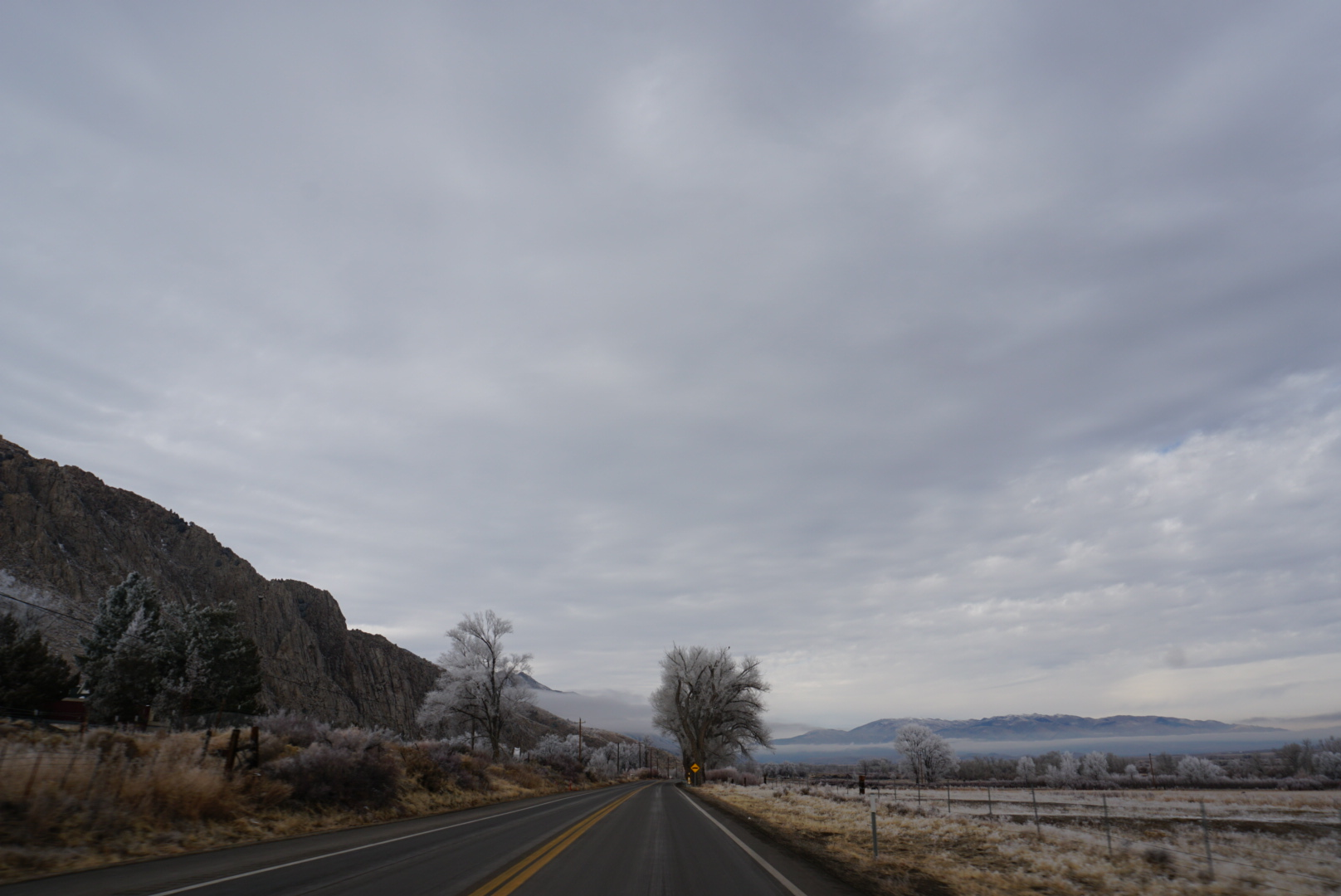 On the road from Mammoth Lakes, CA to South Lake Tahoe