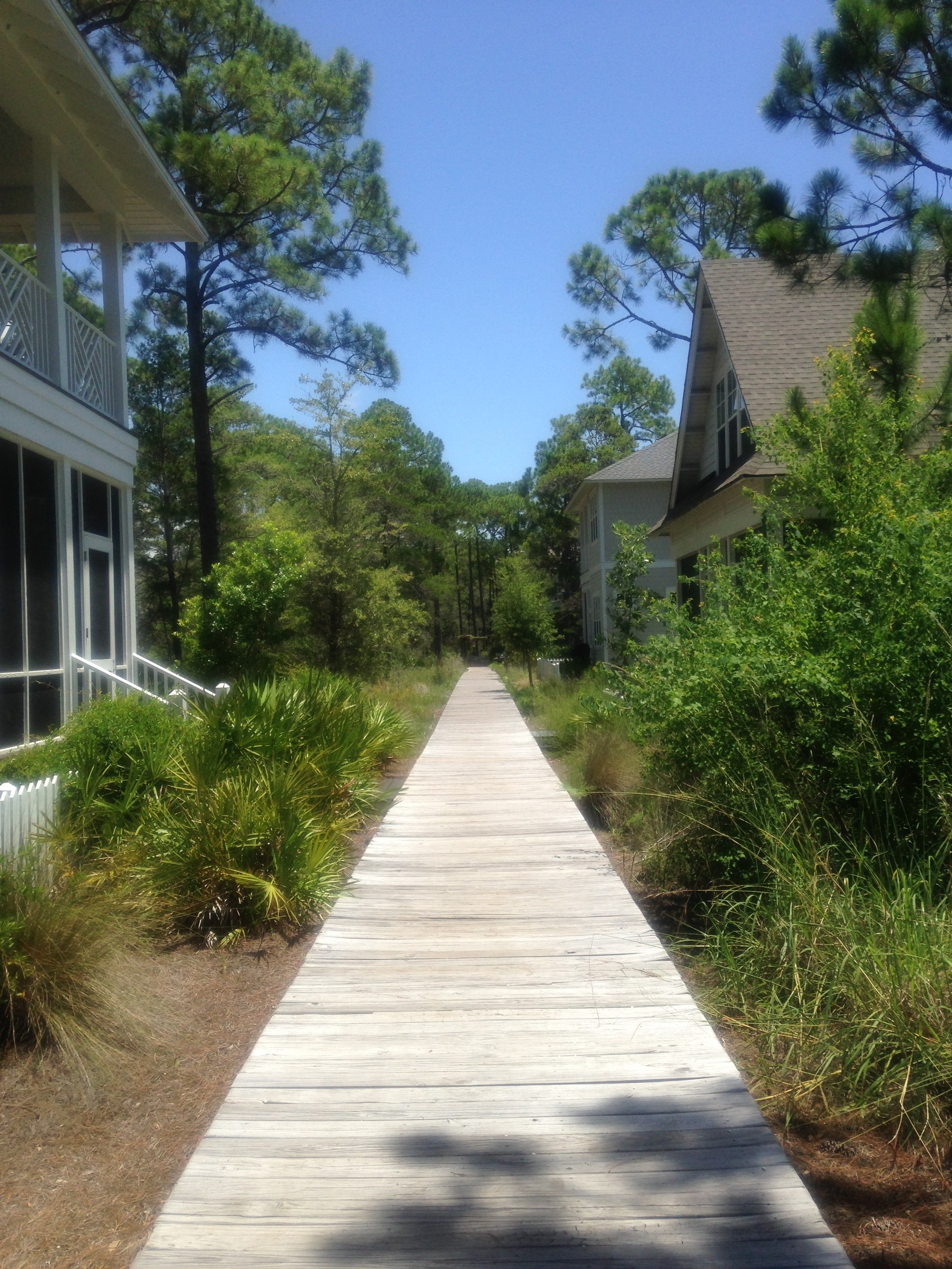 A bike path to the beach, Watersound. Photo by Chic Travels.