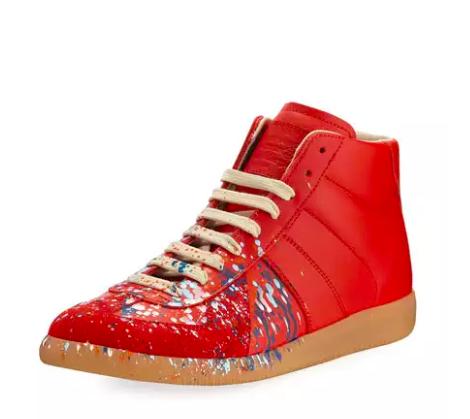 Maison Margiela splatter paint Replica sneaker. $660