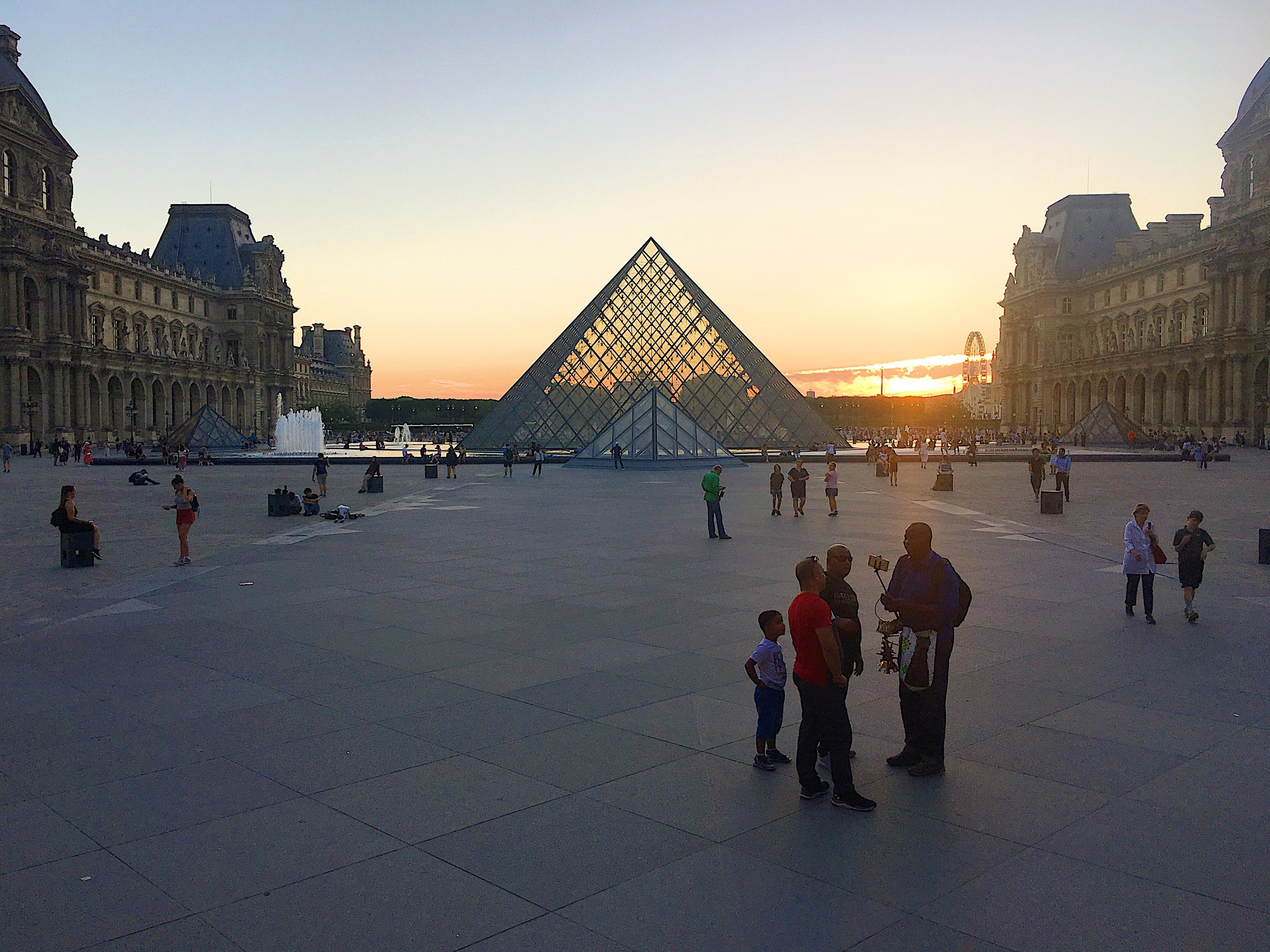 The Cour Carrée du Louvre at sunset. Photo by Jodee Molina.