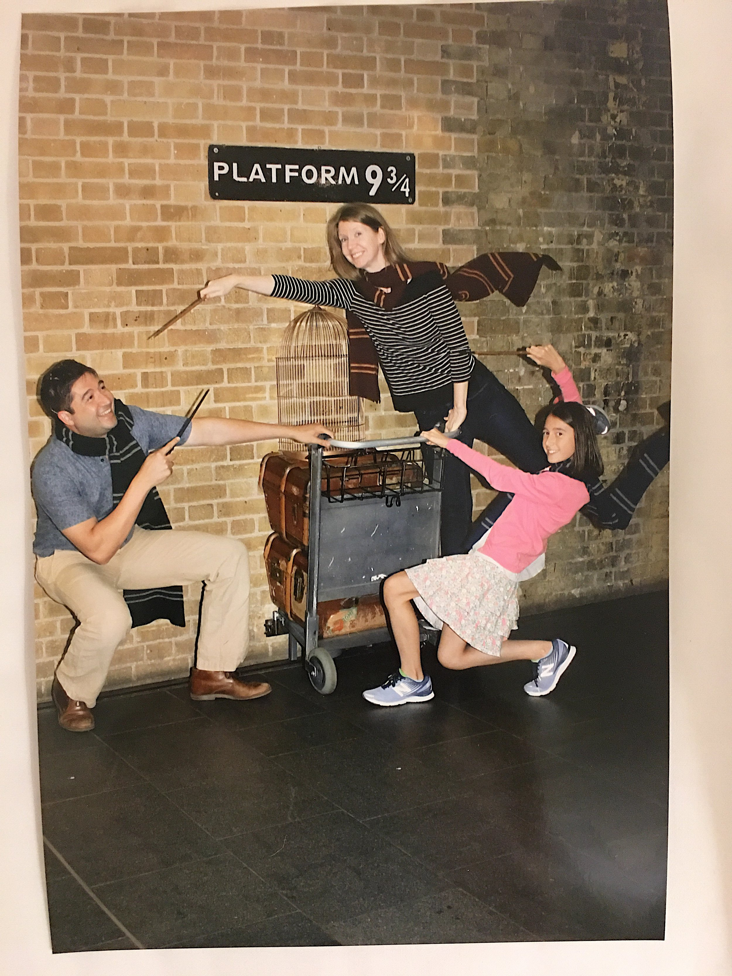 Photo taken by the friendly staff at Platform 9 3/4 at King's Cross Station