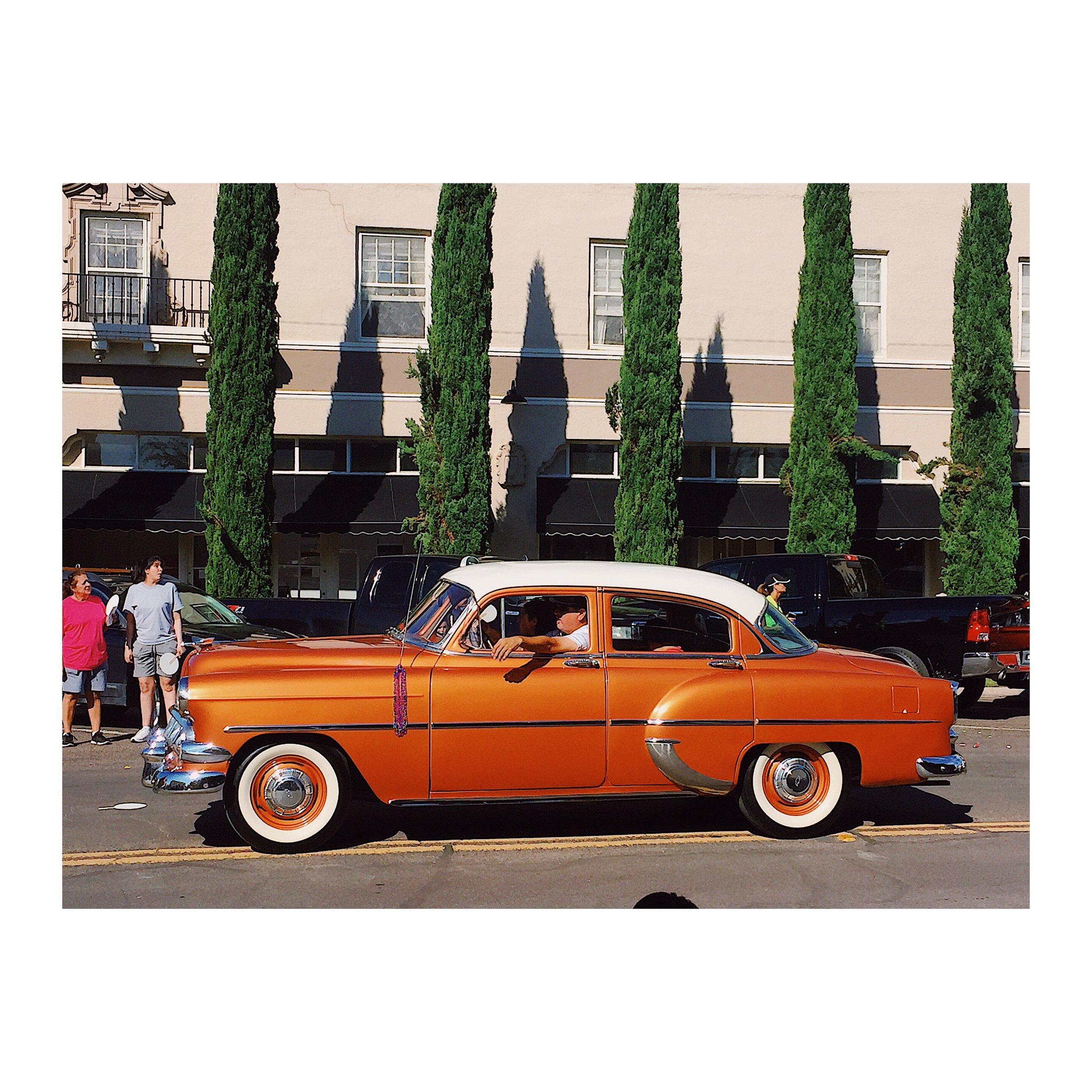 A car in the Marfa Ligths Festival Parade. Photo by Rodolfo Molina.