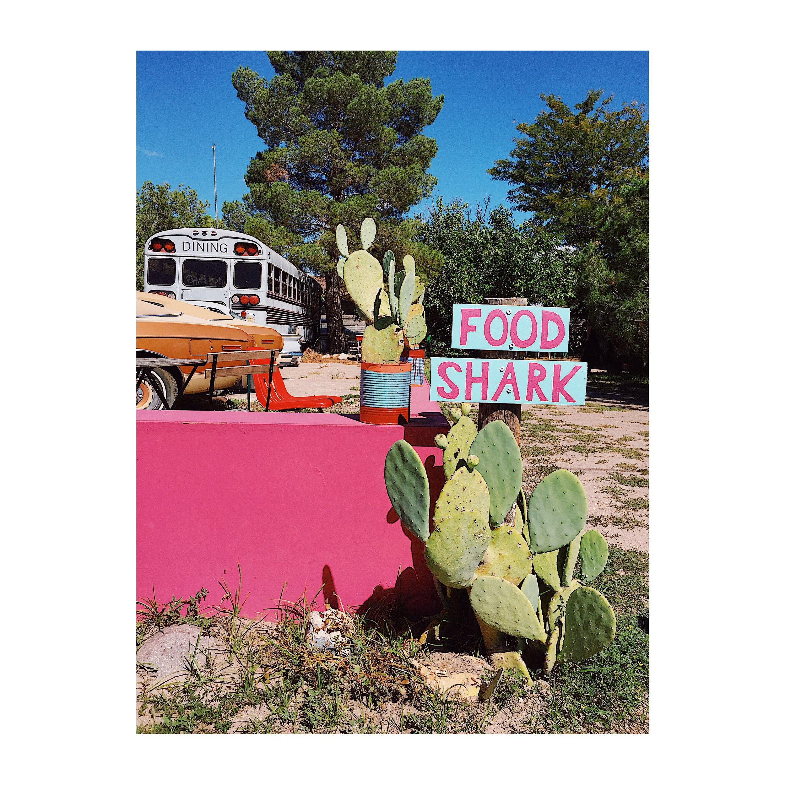 The entrance to the outdoor dining at Food Shark. Photo by Jodee Molina.