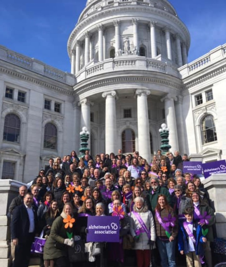 Jayne, owner, at 2019 Alzheimer's Advocacy Day in Madison
