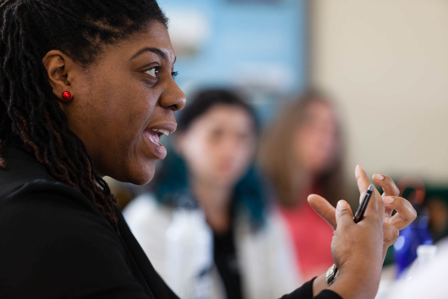 Sarah Lillie Anderson attends the Chesapeake Bay Program's Diversity Workgroup Meeting at Masonville Cove Environmental Education Center in Baltimore, Md., on Nov. 2, 2016. (Photo by Will Parson/Chesapeake Bay Program)