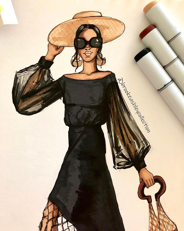 A new week = new #fashionart now available in our shop! 🕶🖤☀️ #artprints #fashiondrawing #fashionillustration #fashionillustrator #createcultivate #fashionsketch #summerstyle #mondaymood #illustration #summervibes
