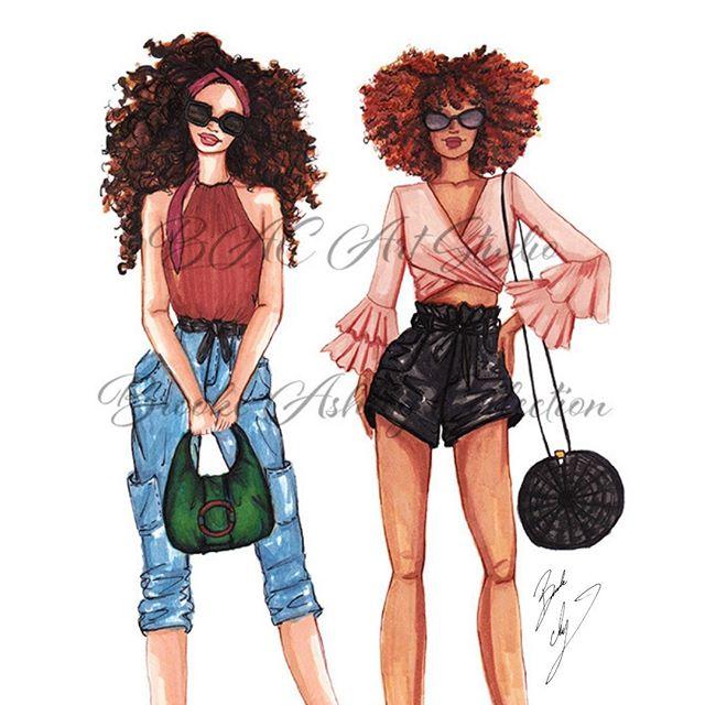 #CityGirls sketch for your Monday morning!  #fashionsketch #fashionart #fashionillustration #copicmarkers #fashionillustrator #illustrator #curlygirls #curllygirl #copic #stylishfriends #citystyle #artprints #happymonday #bacartstudio    
