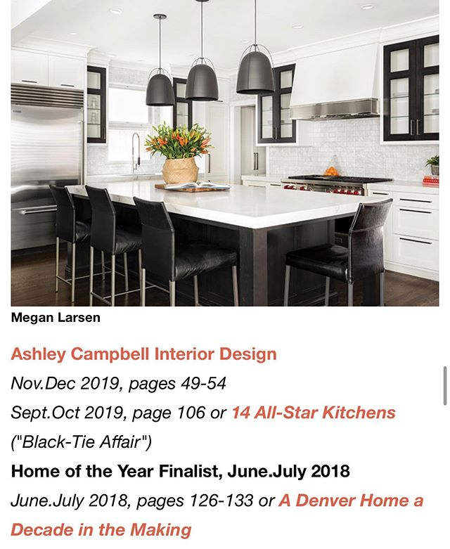 THANK YOU to @coloradohomesmag for including us on your Fabulous List!  Its an incredible honor to be amongst such talent! @ashleycampbellinteriordesign  @rejuvenation @williamohs @thestonecollection @rockymountainhardware @annsacks  showmeyourstyled