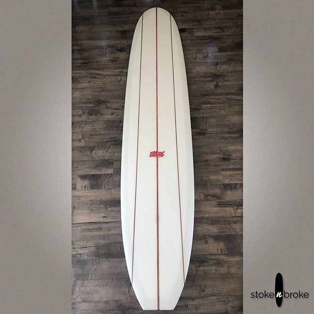 "10'0"" Troy Elmore Noserider available on www.stokenbroke.com. #troyelmore #surfboard #singlefin #noserider"