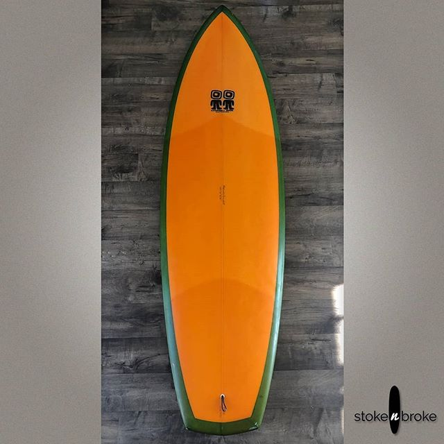 """6'2"""" Campbell Brothers Bumblebee. Available on www.stokenbroke.com. @campbellbros #campbellbros #stokenbroke #usedsurfboards #bonzer"""