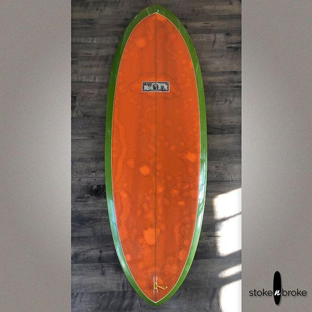 "5'7"" McCallum CS Bonzer. Available on www.stokenbroke.com. @mccallumsurfboards #mccallumsurfboards #stokenbroke #usedsurfboards #bonzer"