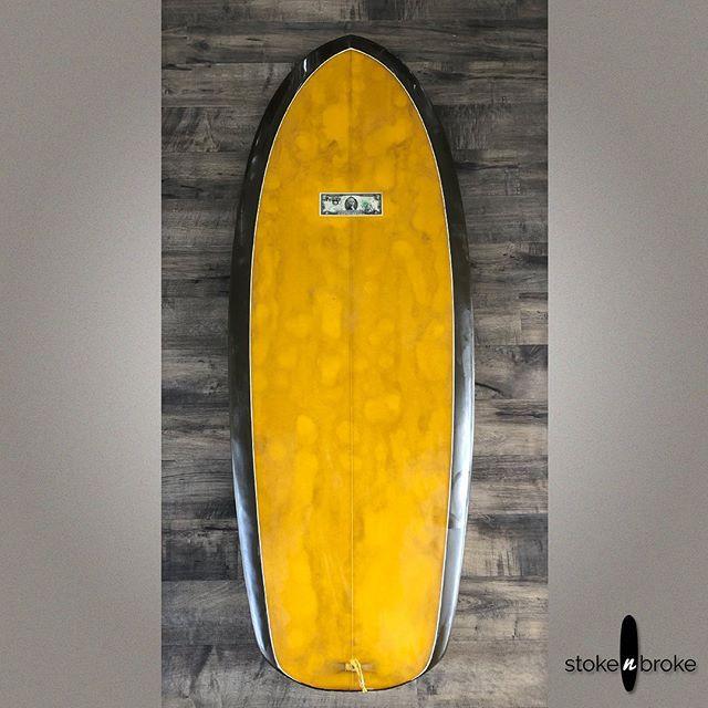 "5'3"" McCallum Mford. Available on www.stokenbroke.com. @mccallumsurfboards #mccallumsurfboards #usedsurfboards #stokenbroke #grovelersurfboard #quadsimmons"