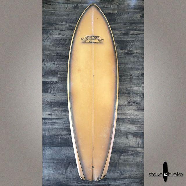 1970s Vintage Campbell Bros Bonzer. SOLD. #campbellbrossurfboards #vintagesurfboard #bonzersurfboards #stokenbroke