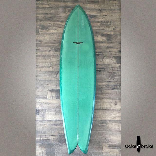 """Happy FRYEday! Early 2000s 7'4"""" Skip Frye Swish. Available on www.stokenbroke.com. #skipfryesurfboards #usedsurfboards #stokenbroke"""