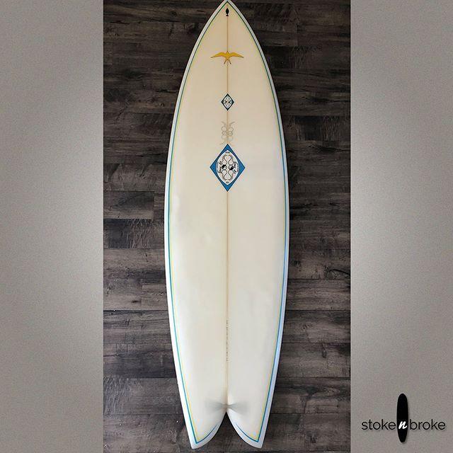 "6'6"" Steve Lis Fish Quad future box. SOLD. #stevelissurfboards #usedsurfboards #stokenbroke"