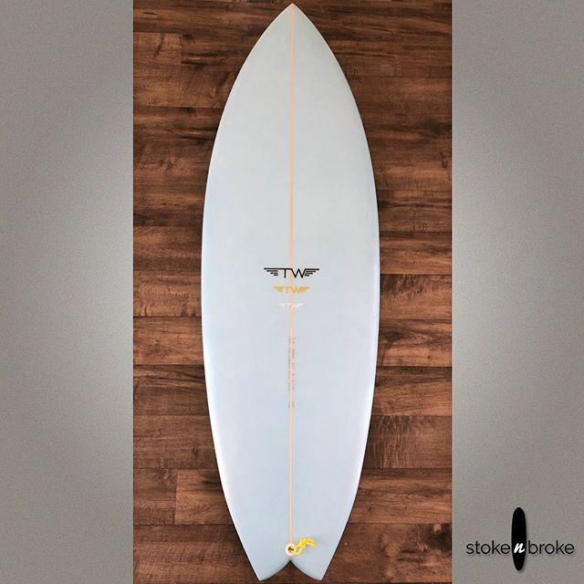 """5'3"""" Tyler Warren Dart. Available on www.stokenbroke.com. @tyler_warren #tylerwarrendart #tylerwarrenshapes #tylerwarrensurfboards #usedsurfboards #stokenbroke"""