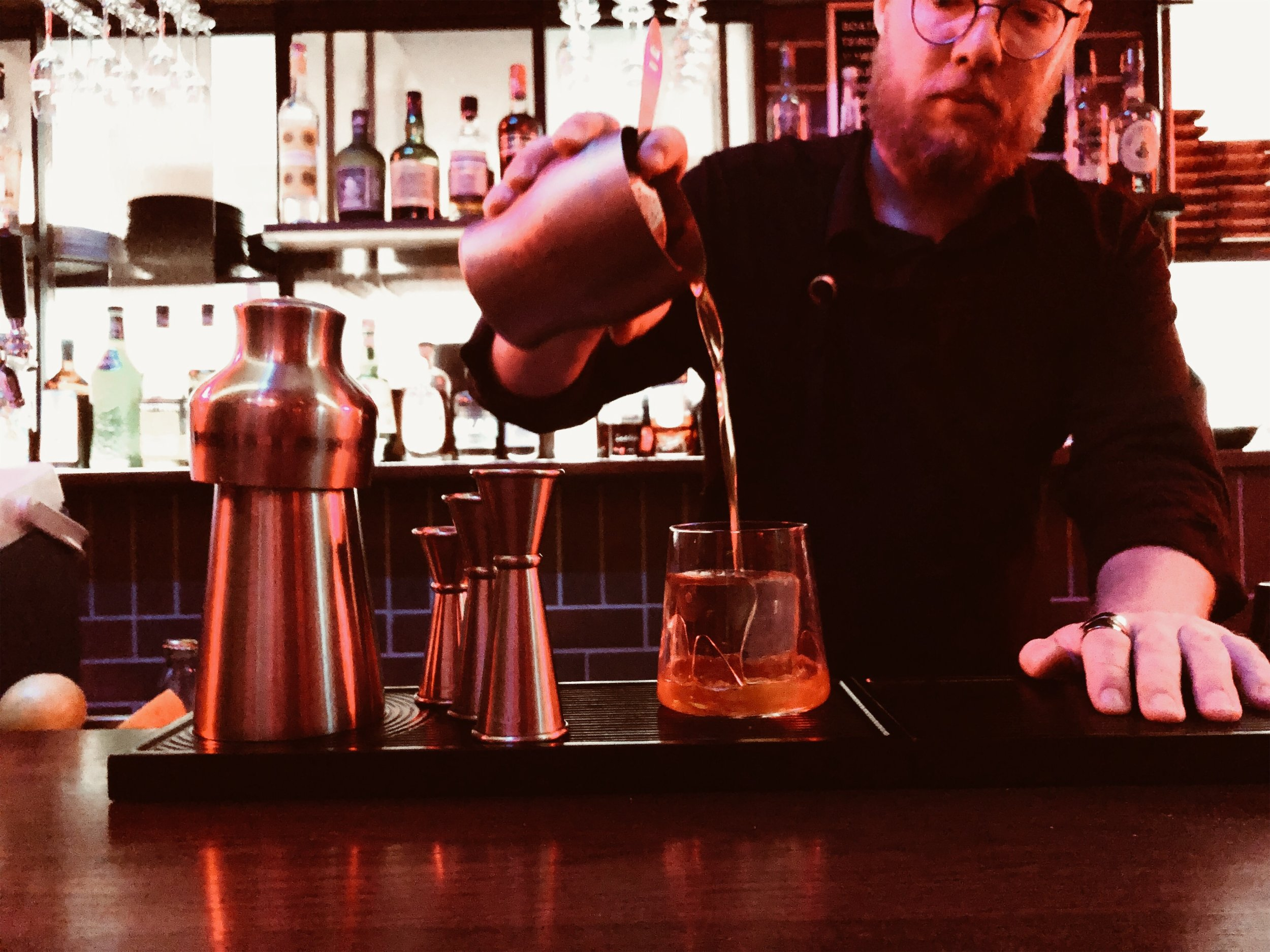 Meet Geoff - He's our barman, he makes nice drinks.You might recognise him from Boilermaker House or Lui Bar… Whisky aficionado and cocktail nerd. His twists on classics makes Good Luck signature cocktails to die for.