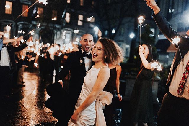 there is nothing more magical than a sparkler exit, even if it's in NYC and technically illegal✨