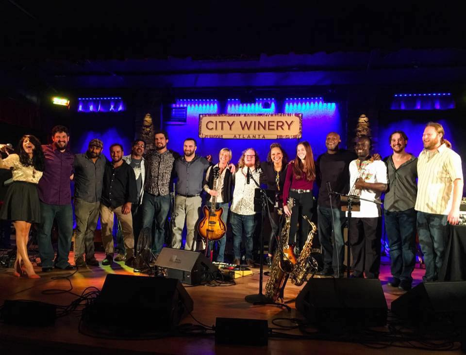 Most of the cast from our second live event at City Winery Atlanta, featuring DJ Logic and Voodoo Visionary performing with Joe Marcinek, Donna Hopkins, Jim Loughlin and more!