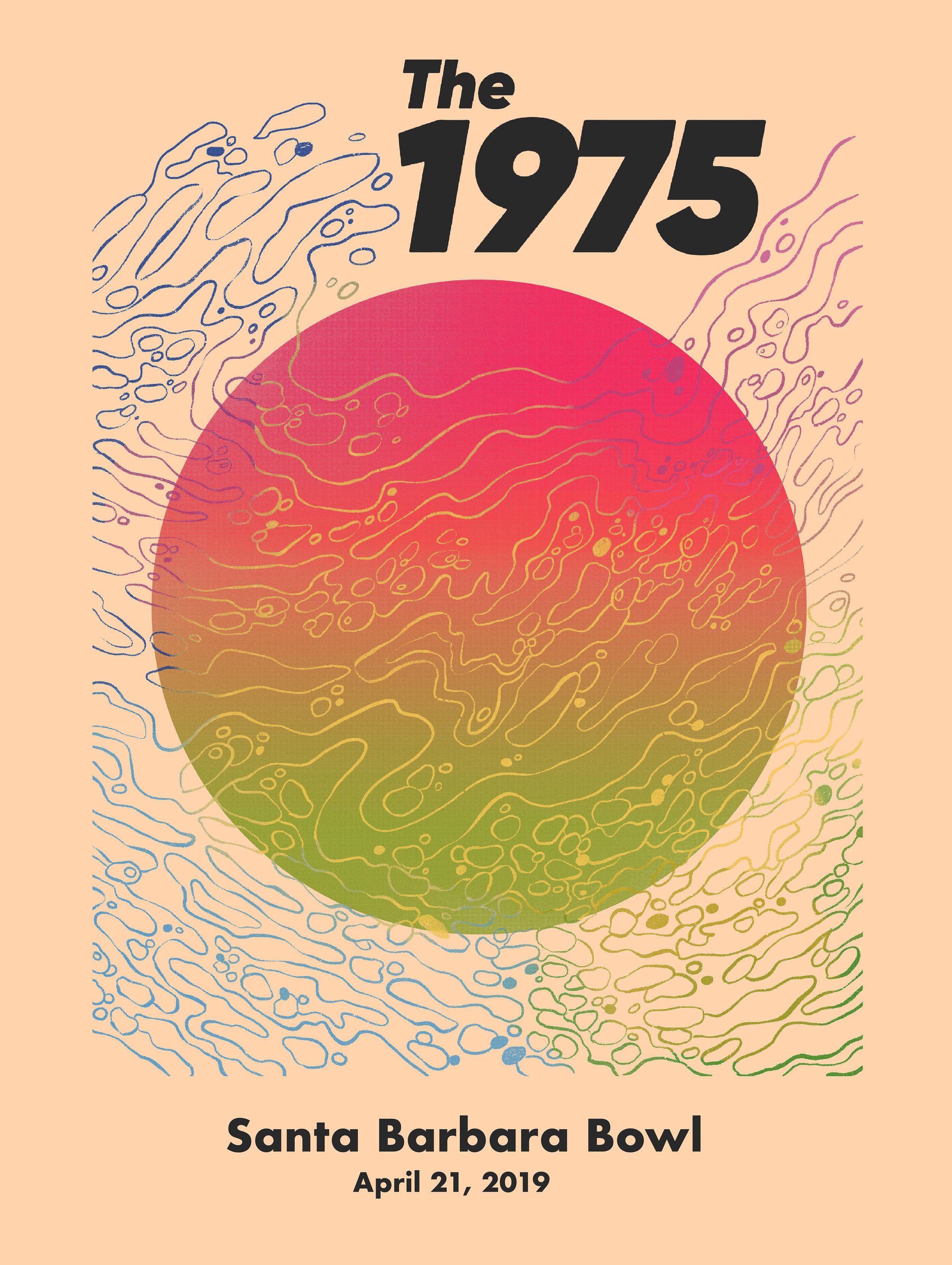 The 1975, Santa Barbara Bowl show poster