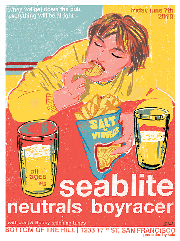 Neutrals and Seablite record release show with Boyracer, Bottom of the Hill, 06.07.2019