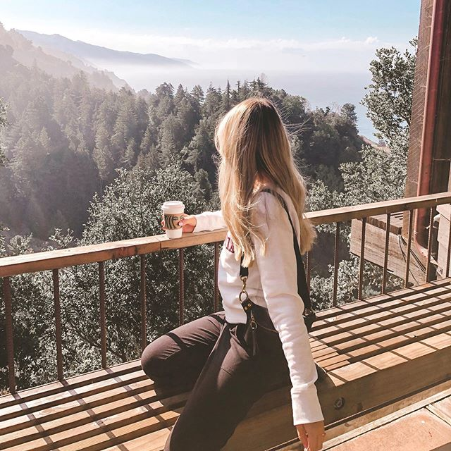 Missing this view of the pine trees and California coastline. On our road trip to Monterey // Big Sur, we stopped here for breakfast.. With Fall in full swing I'm definitely craving another road trip.