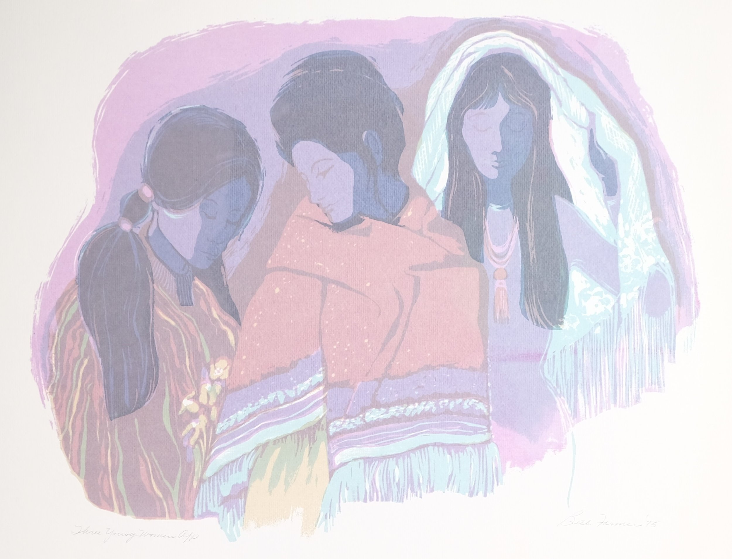 Three Young Women, Lavendar, $175