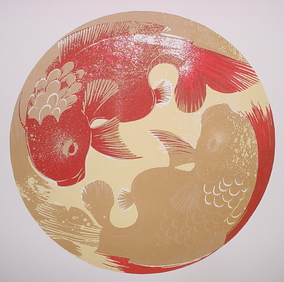 Fish Story, Red/Gold - SOLD OUT