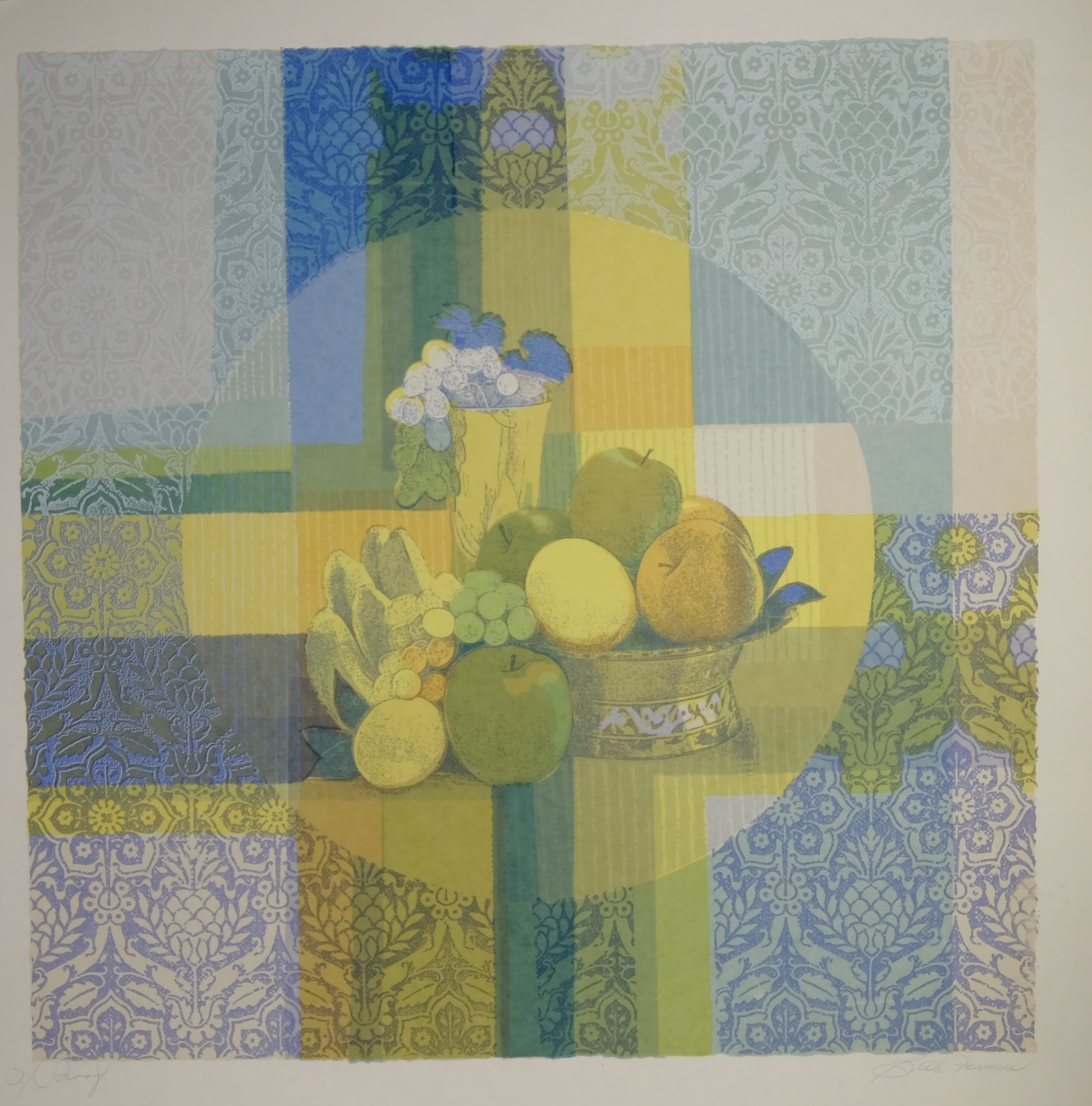 Tutti Fruiti, Yellow/Blue, $150