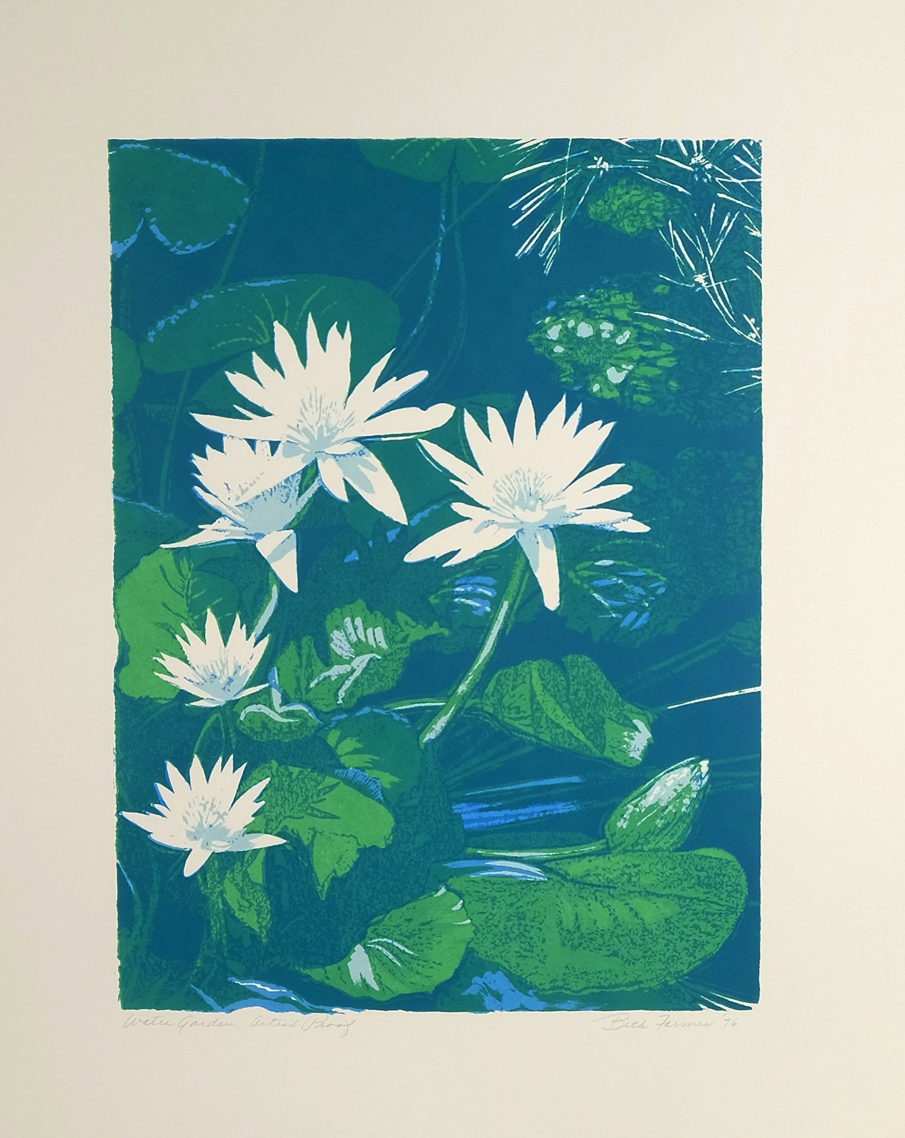 Water Garden, Blue/Green - SOLD OUT