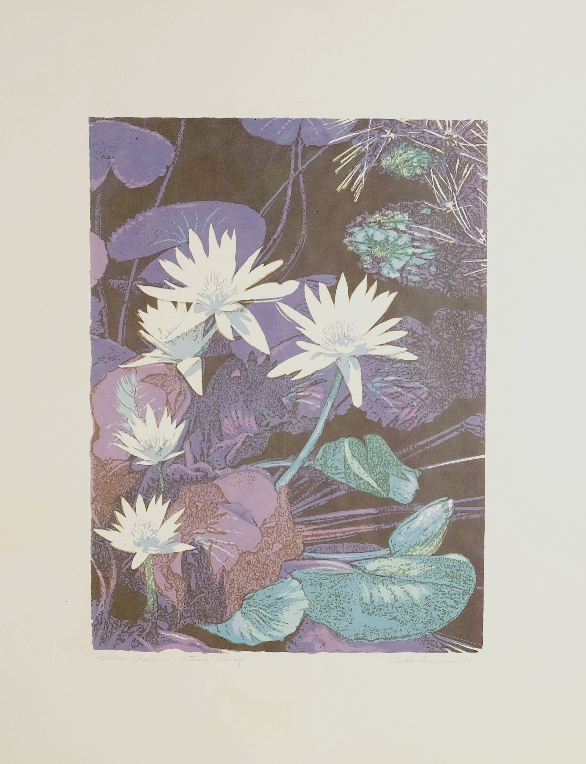 Water Garden, Purple, $300