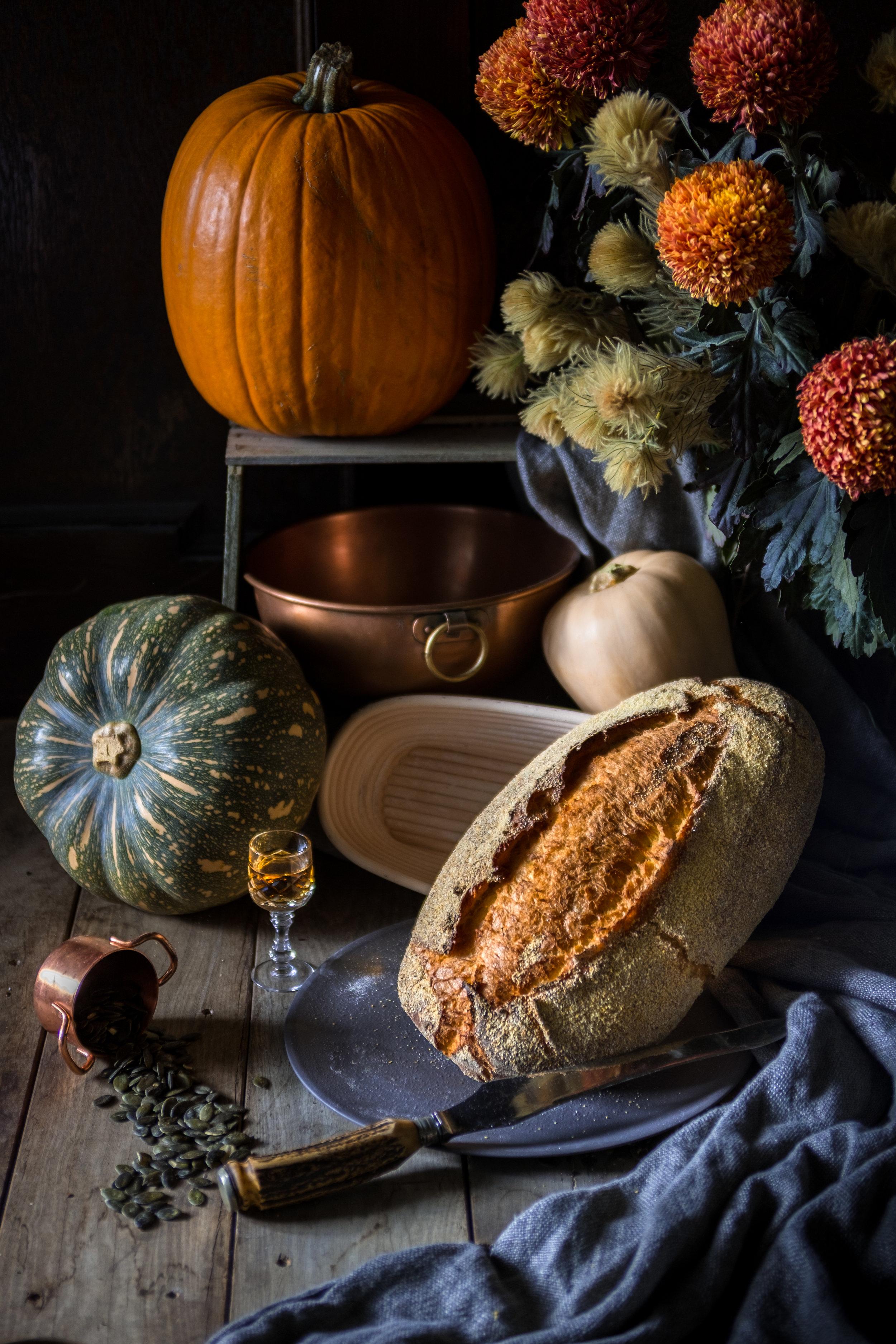 Pumpkin, Maple and Spelt Bread