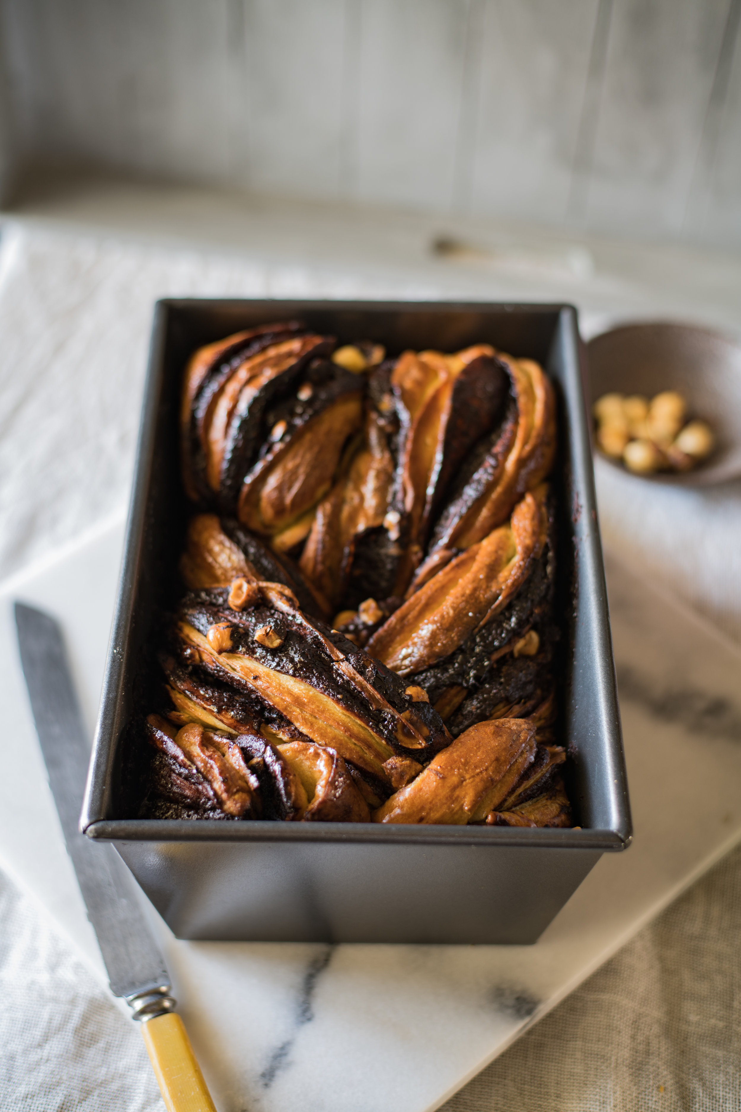 Chocolate, Hazelnut and Orange Babka