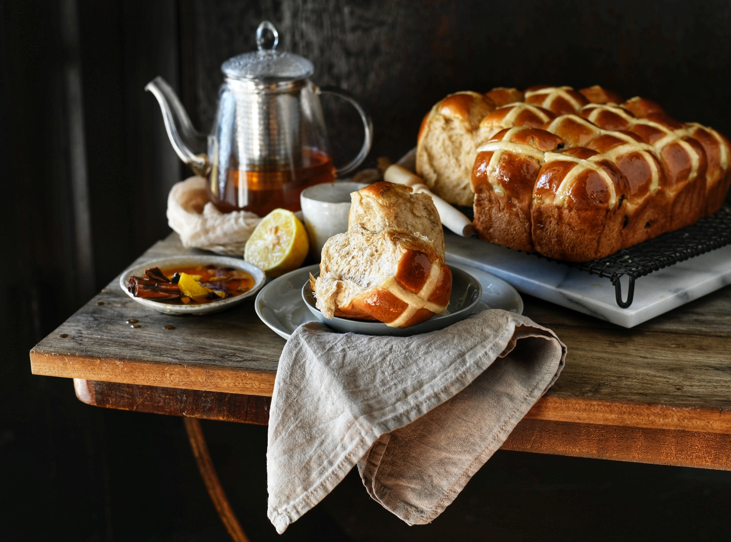 Honey Chai Hot Cross Buns