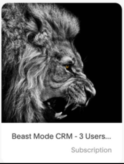 Beast Mode CRM - $187 a Month (3 Users or Less) - It's not a fit for everyone, but with over 700 members using the platform, what are you missing out on?