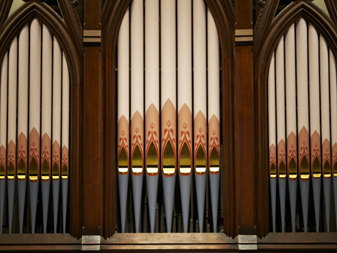 Golden Retriever . Hair & Space Museum . WL - Golden Retriever and Hair and Space Museum will both be presenting special performances using one of the oldest pipe organs in the city of Portland. This marks the first time Matt Carlson in Golden Retriever, and David Golightly in Hair and Space Museum, have used a pipe organ in live performance. Supporting them are WL.Sunday, March 18thFirst Congregational Church at 1126 SW ParkAll ages, $10Doors at 7:00pm, first performance at 7:30pm.-Golden Retriever was formed in Portland, Or. in 2008 by multi-instrumentalists Jonathan Sielaff & Matt Carlson.Focusing on the relationship of two primarily monophonic instruments (modular synth & bass clarinet), and utilizing layering with a deft balance of improvisation & composition, the duo has created an infinitely varied approach to their sound world. Their most recent release, Rotations, featured an expanded section of woodwind, strings, choir, and piano.-Hair and Space Museum is the multimedia performance and installation duo of David Golightly and Emily Pothast, who are also the cofounders of the band Midday Veil. Their music combines rapturous new age textures and dark, dramatic incantations for synthesizer and voice. Golightly is a classically trained pianist whose studies in composition and computer music included courses with Karlheinz Stockhausen in Kuerten, Germany. Pothast is a visual artist who earned an MFA from the University of Washington and a regular contributor to The Wire. Previous Hair and Space Music projects have included a 12-hour improvisation and a custom-built meditation pyramid full of sound.-WL is a three piece exploratory rock band from Portland, OR. Playing together since 2012, they work with inverted pop structure and improvisation. Their most recent release, Light Years, was a visual album culminating from years of recording and filming with video crews.-First Congregational Church of Christ is a historic building registered with the State of Oregon. 