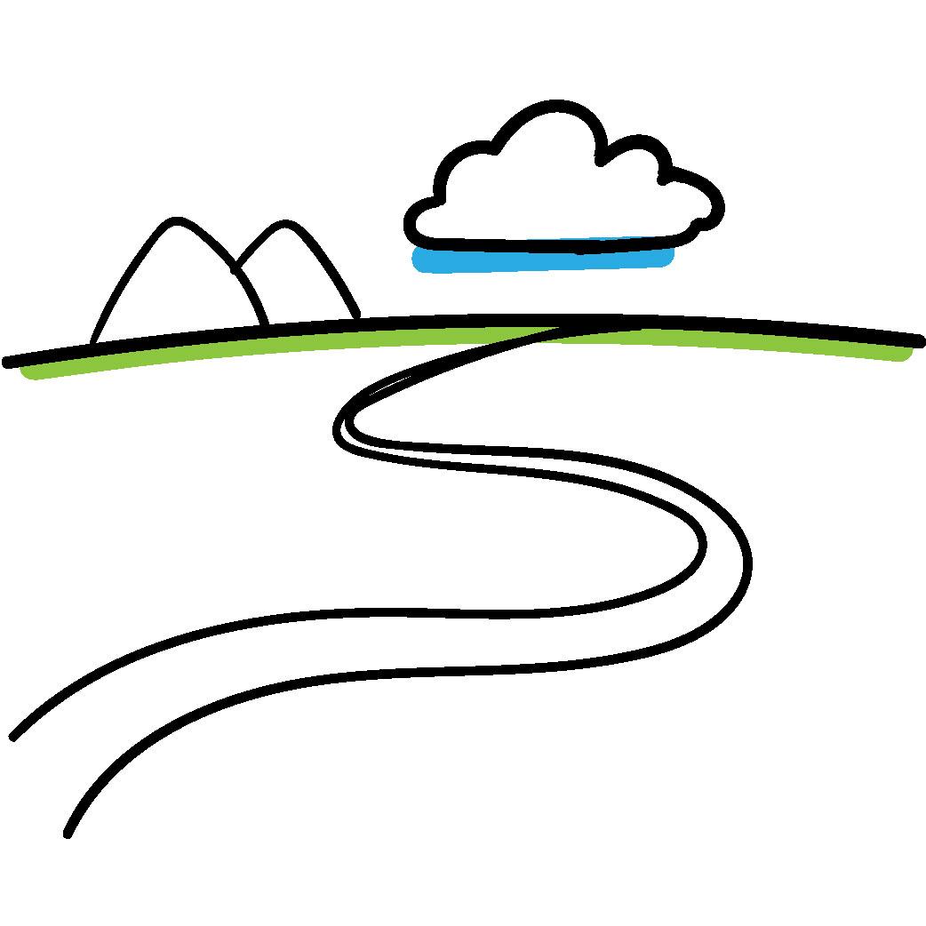 Tegning af rejsen -