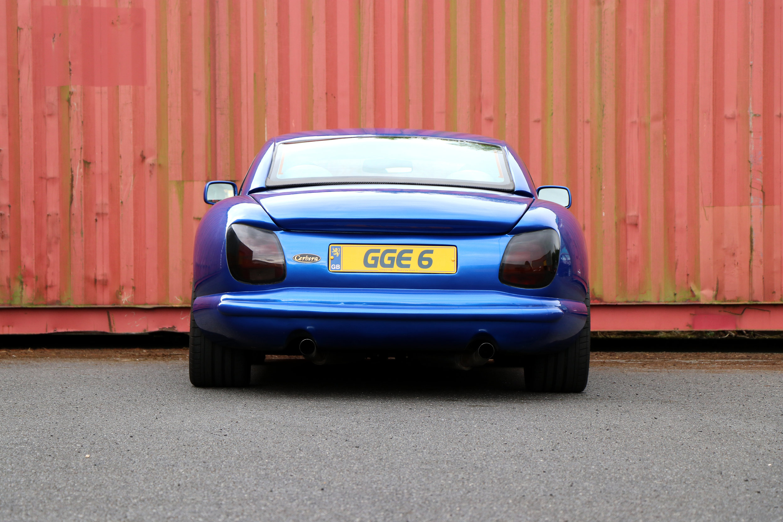 TVR Cerbera 1999, in blue, right hand drive, V8, for sale at Three Point Four.