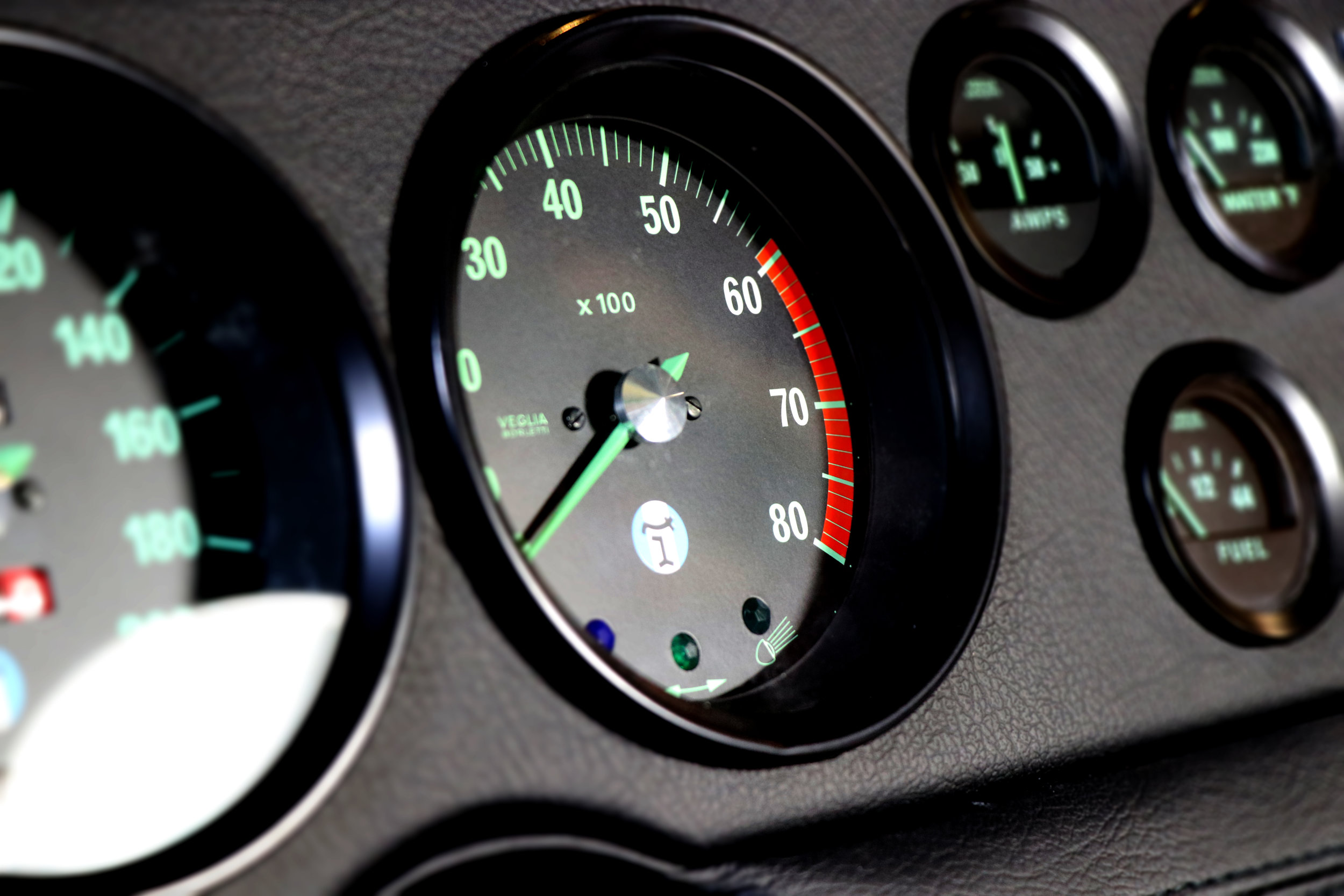 Mangusta dials at Three Point Four.  The UK's leading restoration and servicing specialists for everything De Tomaso.