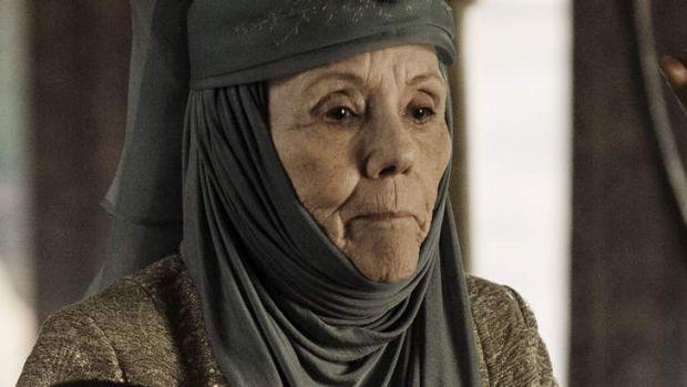 Diana Rigg as Lady Olenna Tyrell