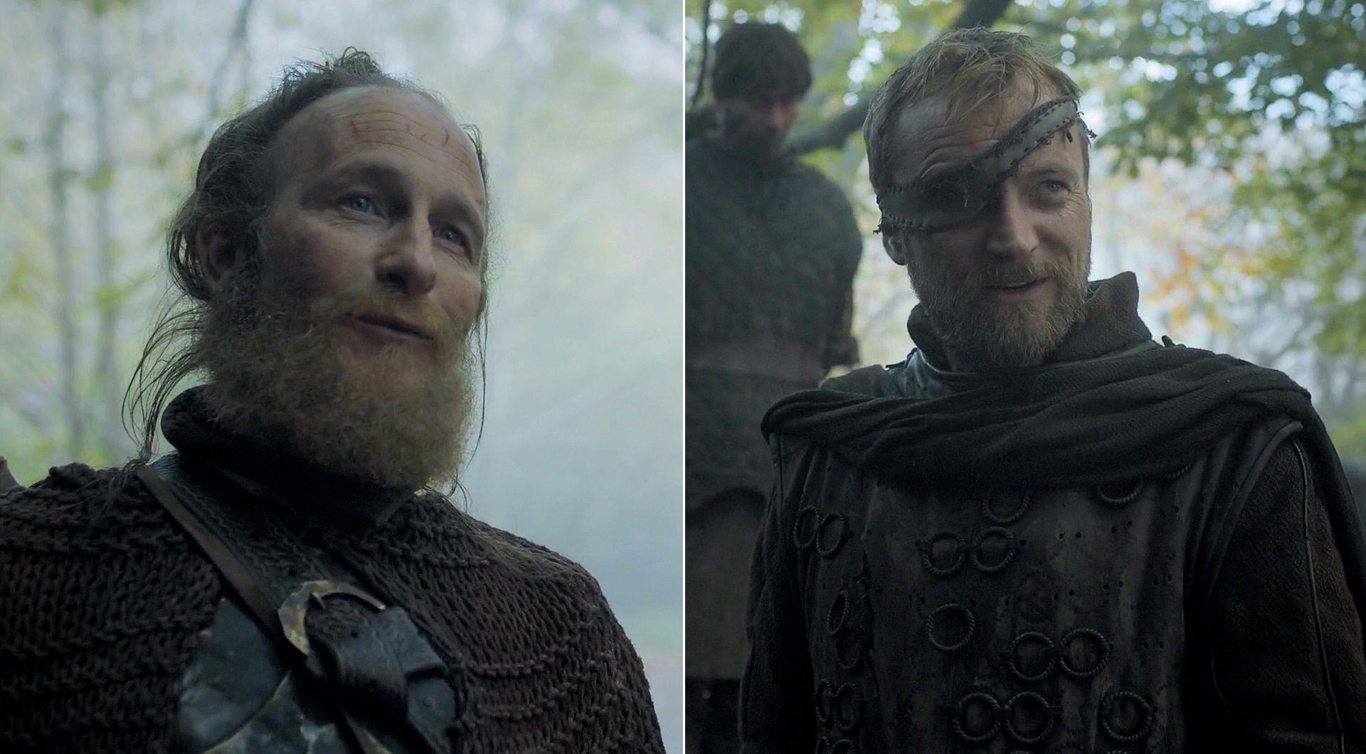 Paul Kaye as Thoros of Myr & Richard Dormer as Beric Dondarrion